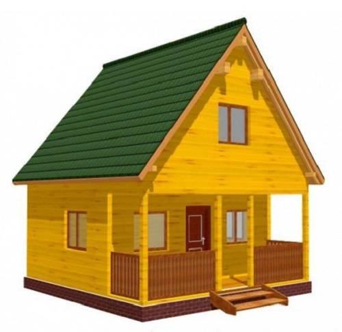 Дом 6 на 6 сколько квадратных метров