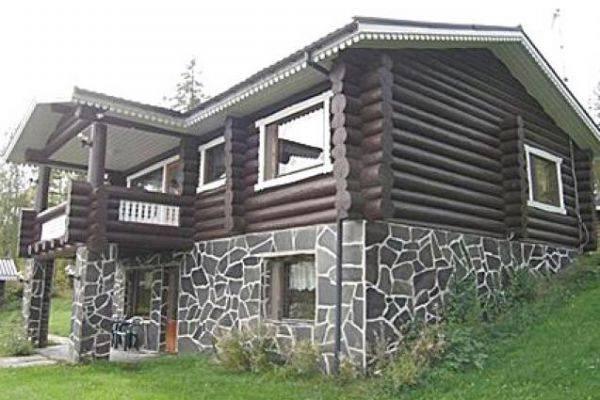 Комбинированные деревянные дома