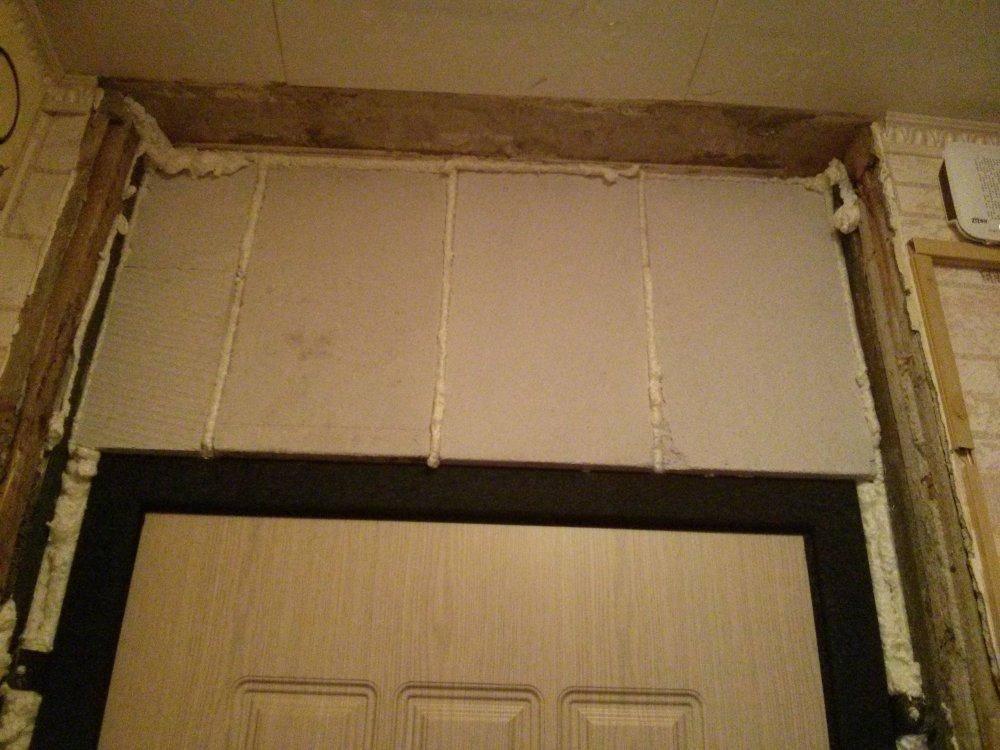 Как заделать дверной проем в стене