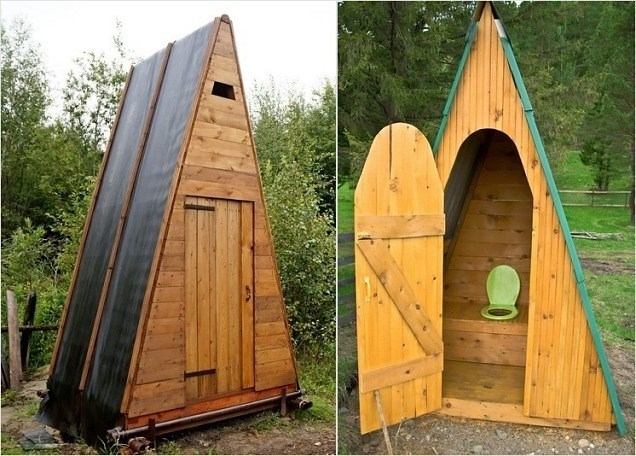 Дачный туалет из кирпича