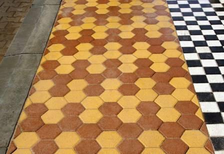 Узоры тротуарной плитки кирпичик