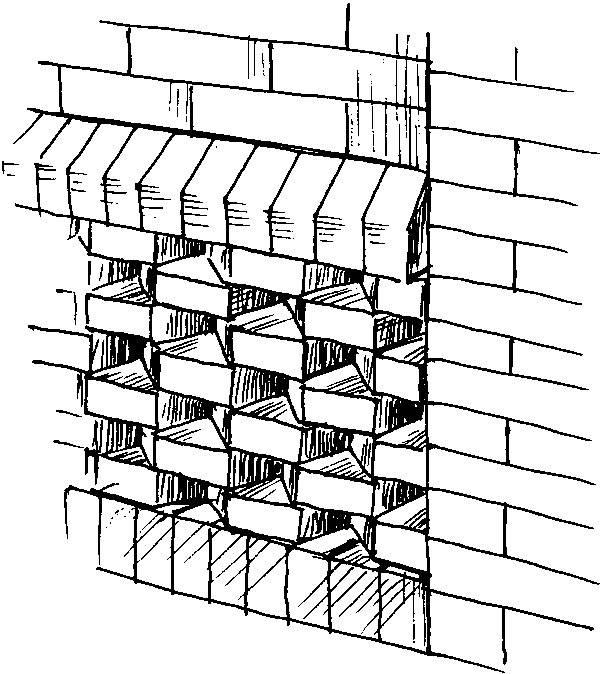 Кладка вентиляционных каналов из кирпича