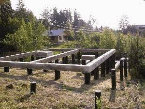 Фундамент на бетонных сваях с ростверком