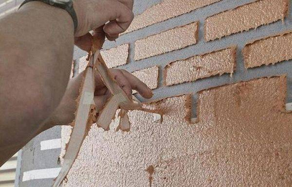 Как сделать имитацию кирпичной стены