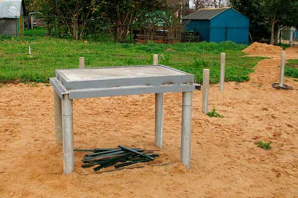Фундамент для печки в деревянном доме