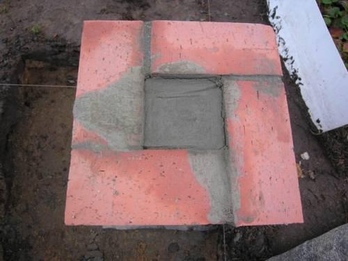 Кладка фундамента из кирпича