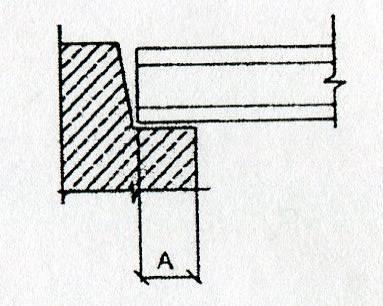 Опирание плиты на кирпичную стену