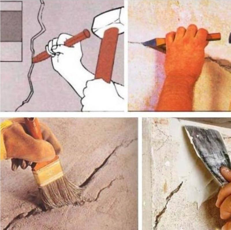 Чем заделать трещину в стене кирпичного дома