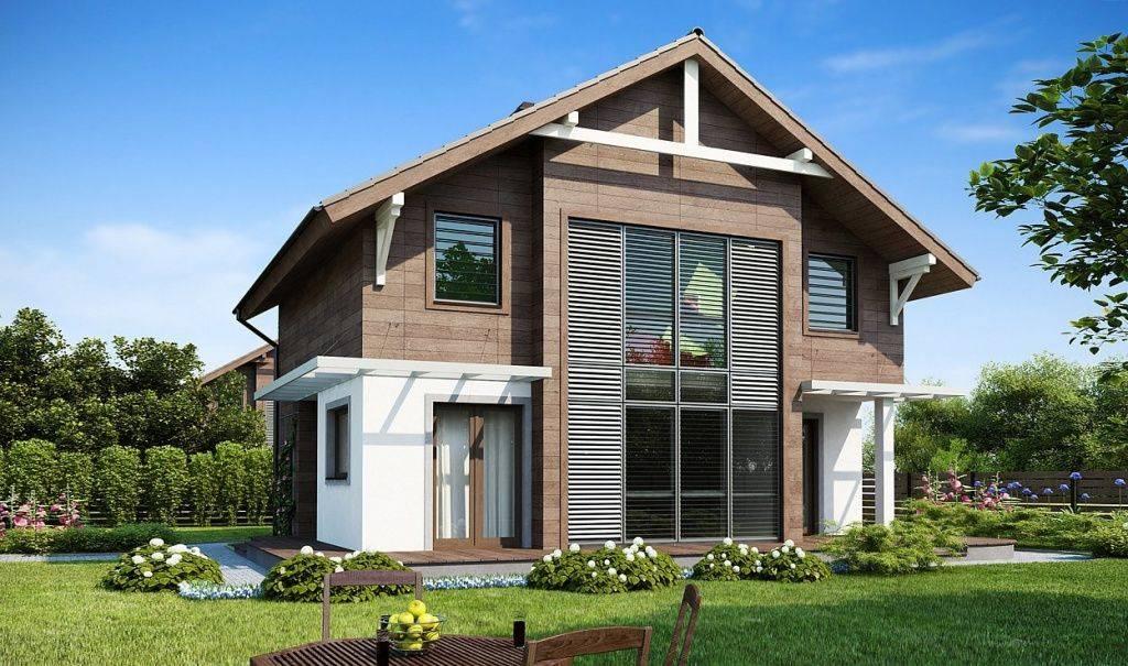 Комбинированные дома из пеноблоков и дерева проекты