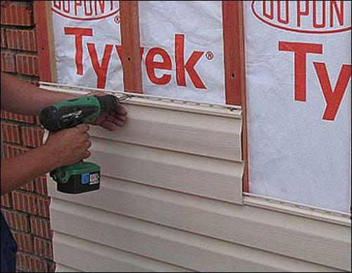 Отделка сайдингом кирпичного дома