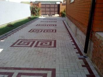 Варианты раскладки тротуарной плитки