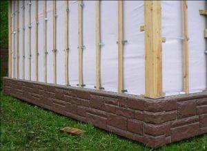 Утепление кирпичных стен снаружи минватой под сайдинг
