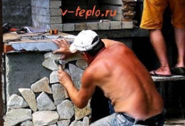 Печь камин из кирпича своими руками