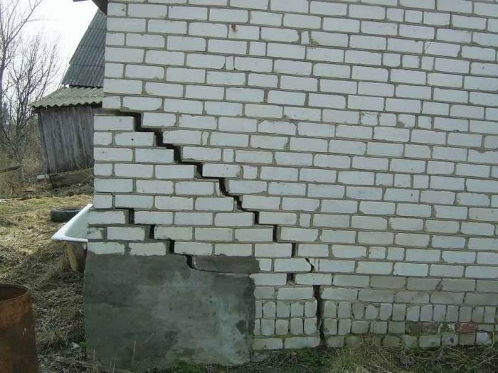 Как заделать трещину в фундаменте дома
