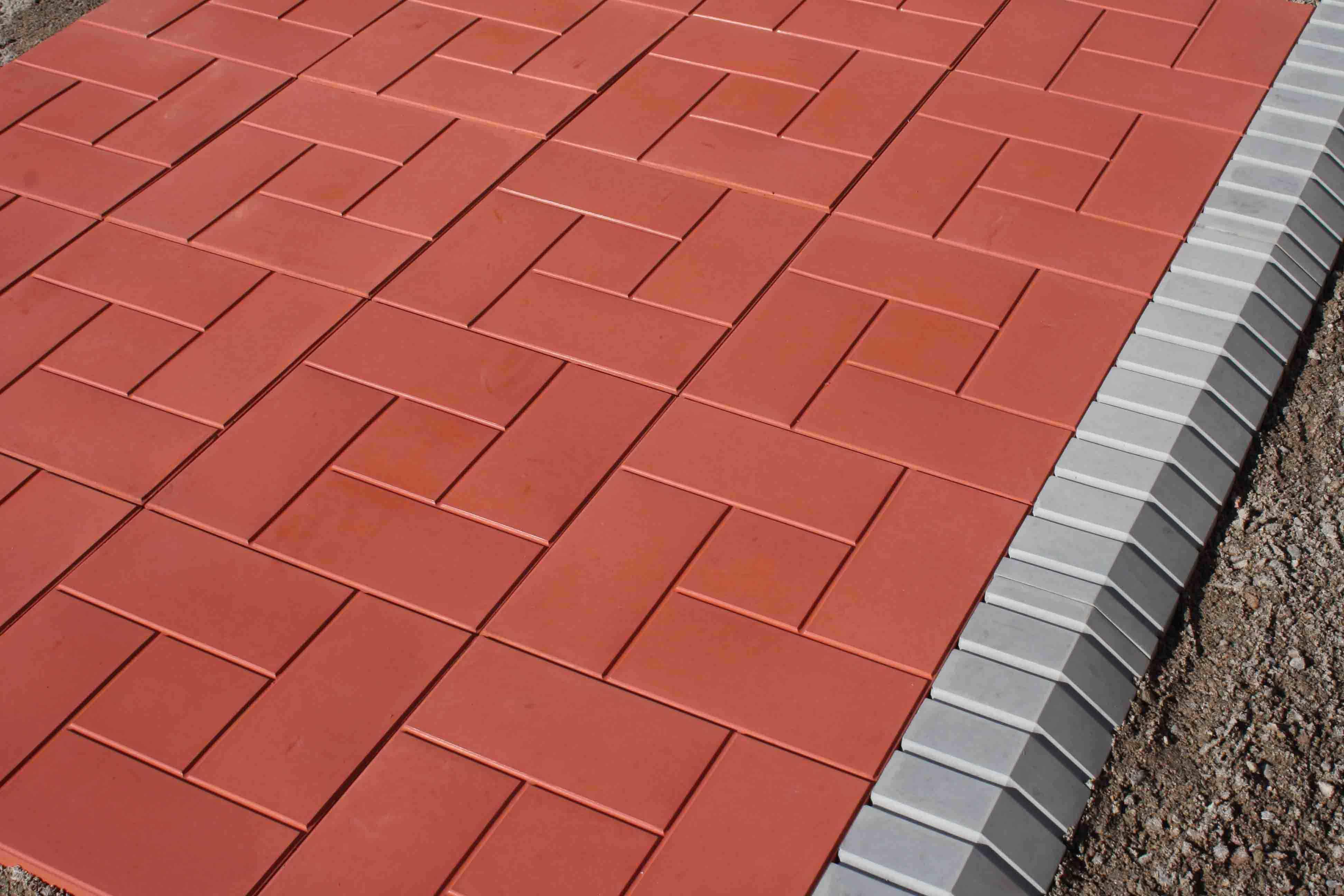Размеры тротуарной плитки кирпич