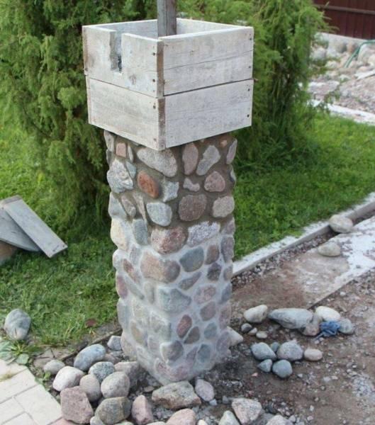 Беседка с колоннами
